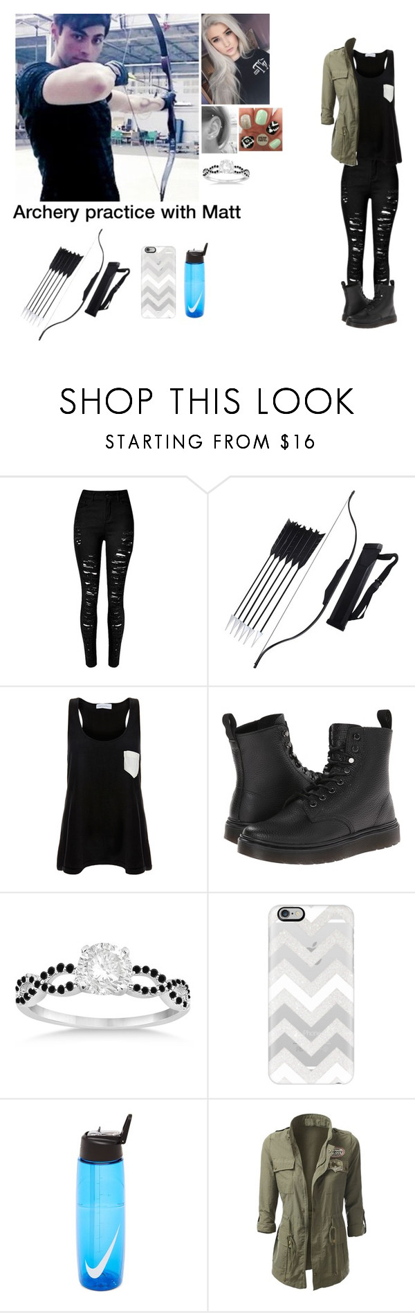 """""""Archery practice with Matt"""" by brookie5sos ❤ liked on Polyvore featuring Solid & Striped, Dr. Martens, Allurez, Casetify and NIKE"""
