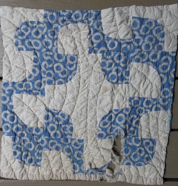 Cutter <b>Quilt</b> Piece - Repurposed <b>Quilt</b> - <b>Drunkard's</b> <b>Path</b> <b>Pattern</b> ...