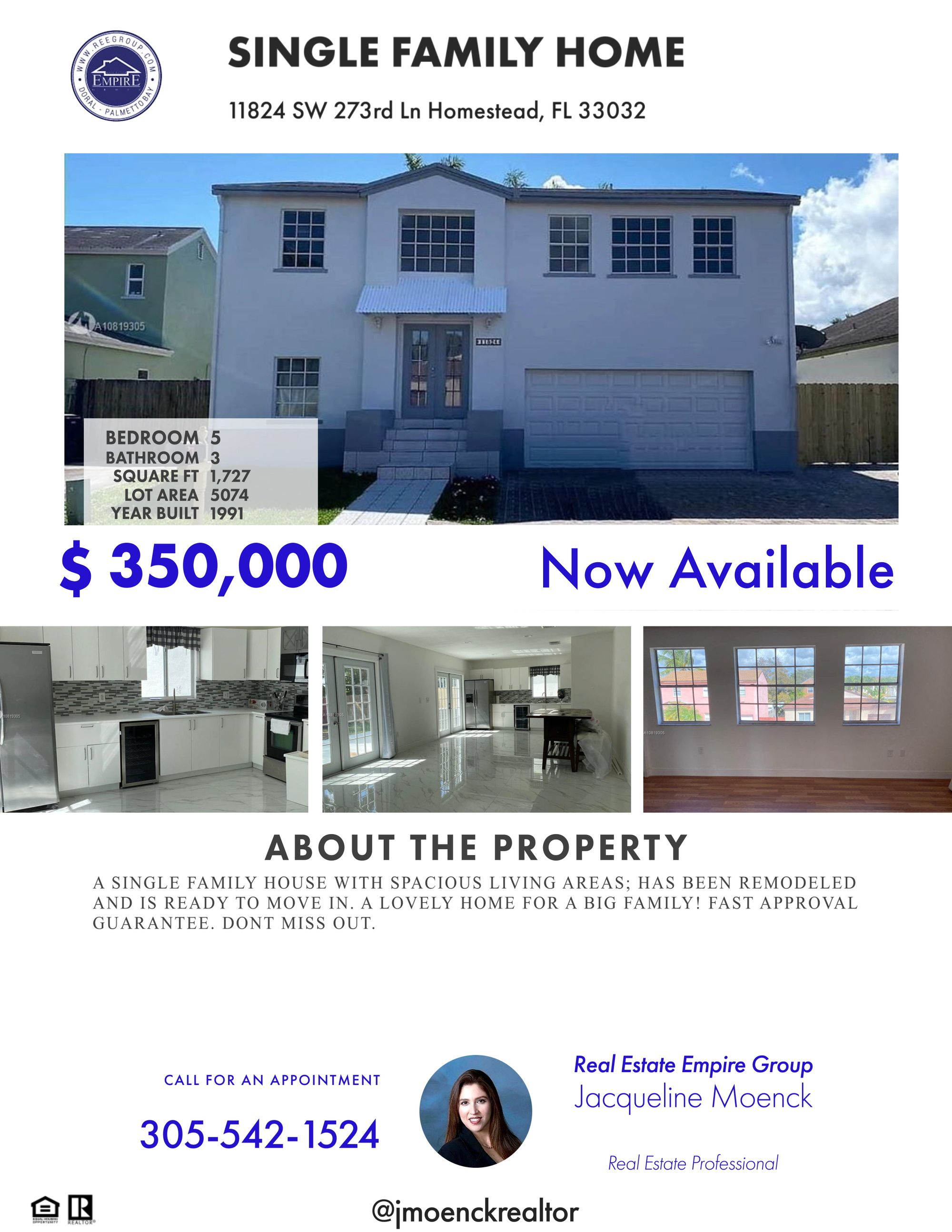 A SINGLE FAMILY HOUSE WITH SPACIOUS LIVING AREAS; HAS BEEN REMODELED AND IS READY TO MOVE IN. A LOVELY HOME FOR A BIG FAMILY! FAST APPROVAL GUARANTEE. DONT MISS OUT.  #miamifl #southflorida #coralgables #brickell #miamilakes #realestate #realestateagent #realestatesales #realestatemiami #realestatebroker #realestateagents #casasenventa #luxuryhomes #casasdelujo #downtownmiami #miamirealestate #miamirealtor