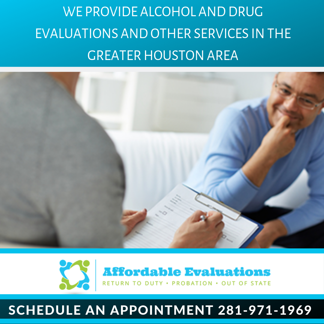 At Affordable Evaluations, We provide alcohol and drug