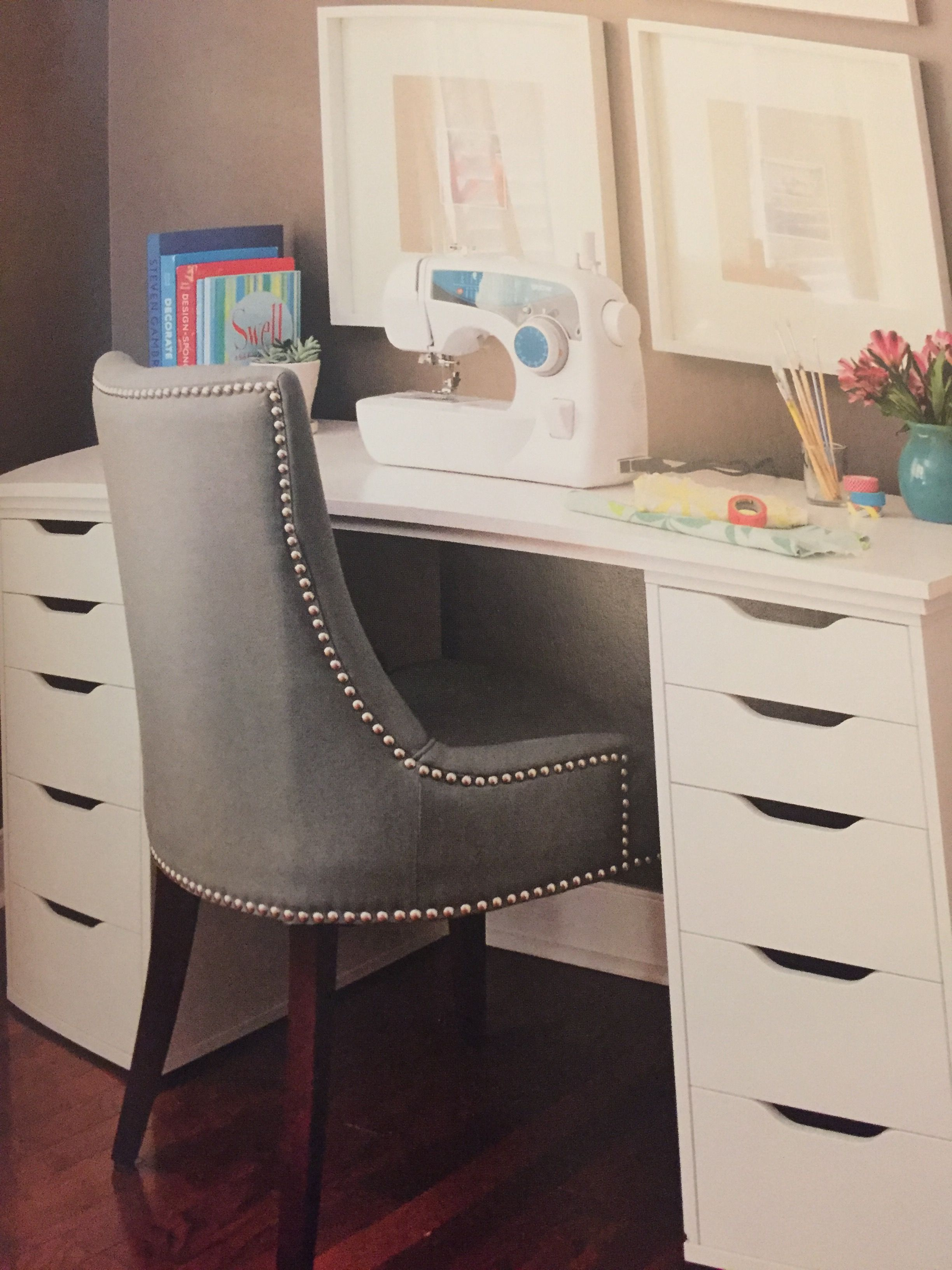 Yhl lovable livable home ikea alex drawers turned craft desk