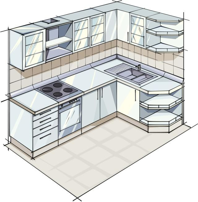 5 Examples of L-Shaped Kitchen Layouts #kitchen