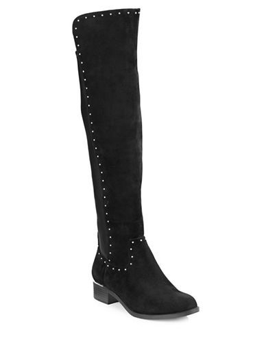 071df2a5878 CALVIN KLEIN Calvin Klein Cynthia Studded Suede Over-The-Knee Boots.   calvinklein  shoes  boots