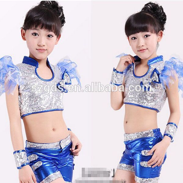 da4082476d193 Fábrica en stock popular niños lentejuela modernos trajes de baile hip hop  jazz dance costume para girs y los niños