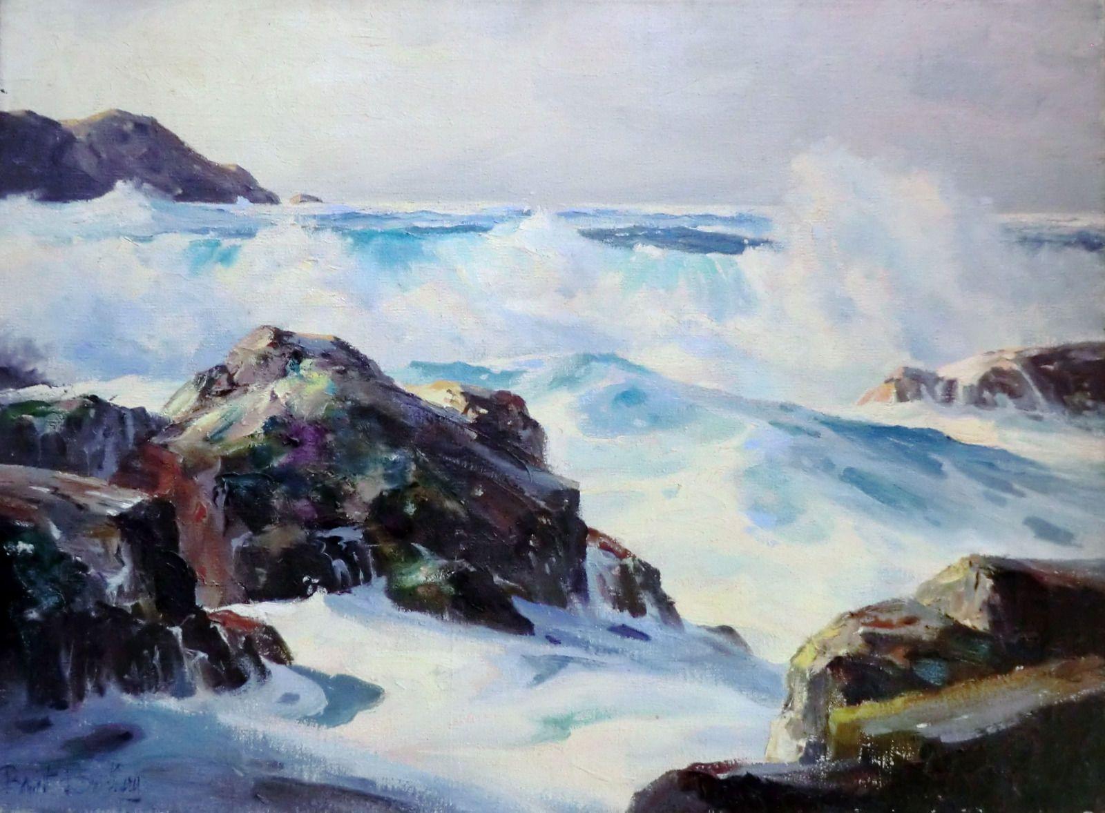 Rare Oil Painting By American Artist Bennett Bradbury Ebay