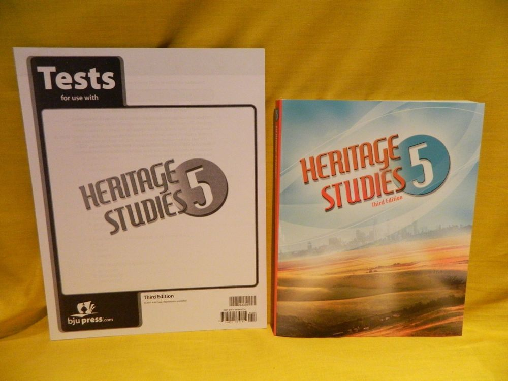 Bob Jones Heritage Studies 5 Student w.Test, LN, History