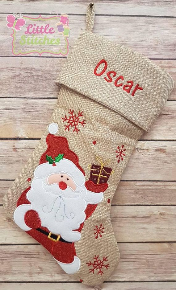 Personalised Christmas Santa Sack Jolly Snowman Xmas Present Stocking