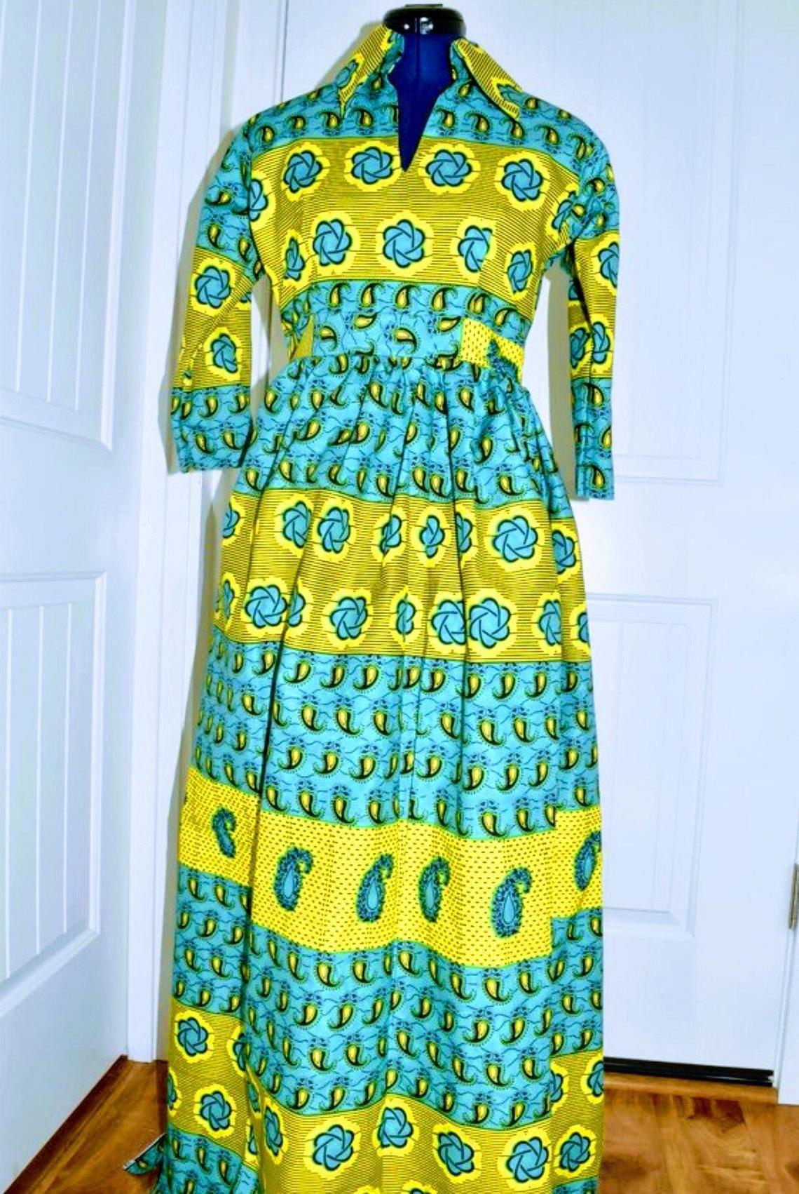 aca8c9a1bf2 New Ankara women clothing  African maxi dress shirt African prints ...