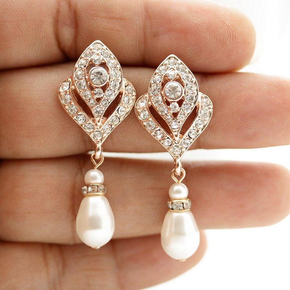 37++ Rose gold pearl wedding earrings ideas in 2021