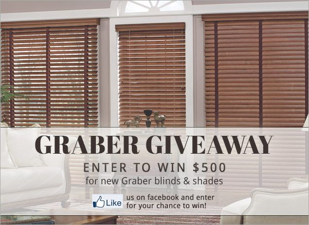 Win Graber Blinds! http://woobox.com/asvcqd Blinds and Window Shades, Shutters, Curtains and Drapes |Blindsmax - BlindsMax.com #contest #giveaway #sweepstakes #entertowin