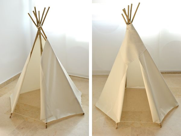 diy un tipi tendance pour la chambre des enfants tuto tipi cabanes et tuto. Black Bedroom Furniture Sets. Home Design Ideas