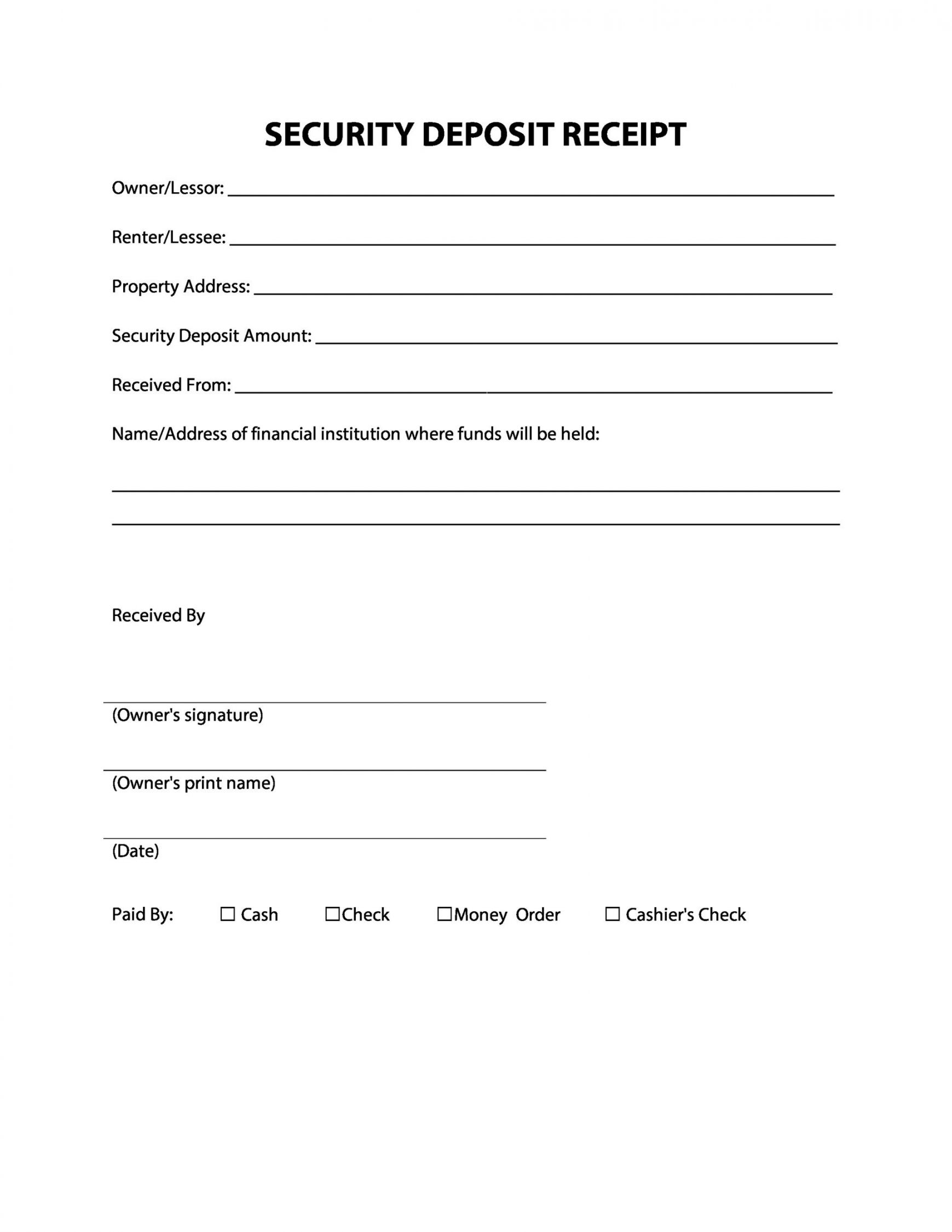 Explore Our Sample Of Real Estate Deposit Receipt Template Receipt Template Receipt Templates
