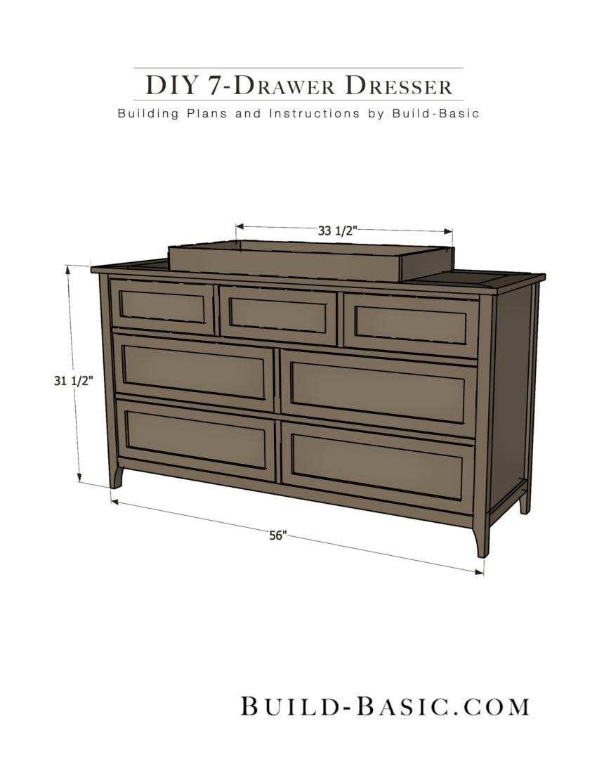 Diy 7 Drawer Dresser By Build Basic Pdf