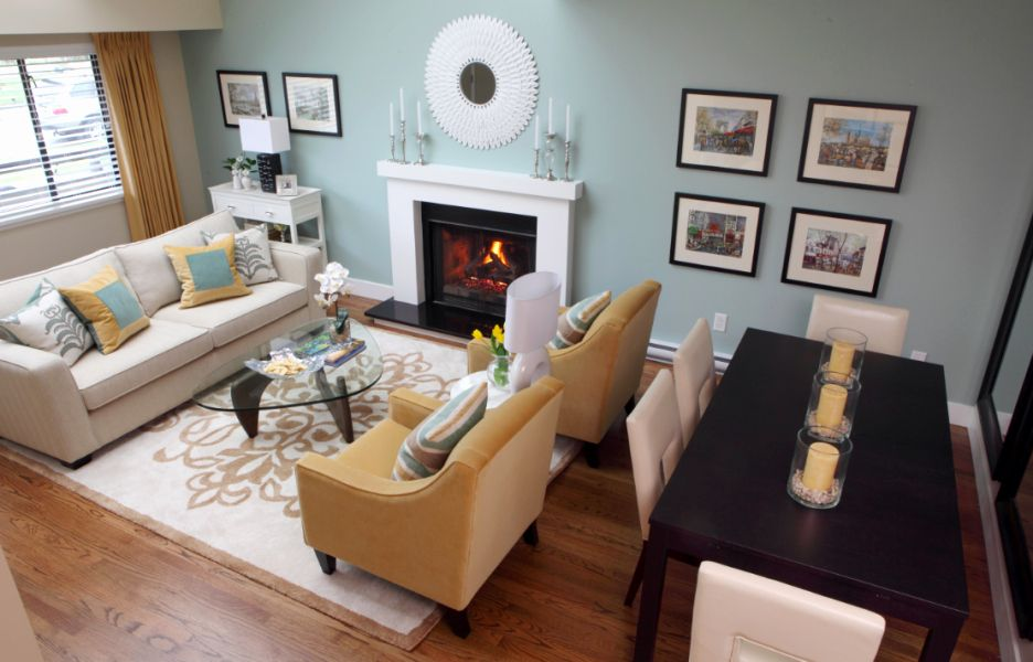 Living Room Furniture Ideas With Fireplace New Best Living Room Layout Ideas Livin In 2020 Rectangle Living Room Rectangular Living Rooms Living Room Dining Room Combo