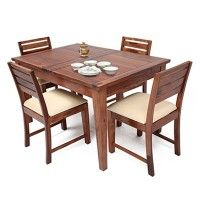 Advin 4 Seater Extendable Dining Table Set Cream Rs 35,999 ...
