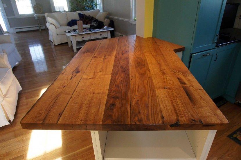 Longleaf Lumber Reclaimed Chestnut Countertop Wood Countertops Rustic Countertops Wood Dining Table Rustic