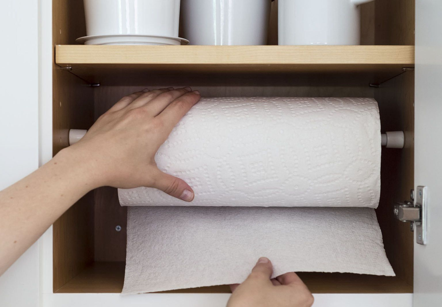 Aha Hack Tension Rod As Paper Towel Holder Paper Towel Holder