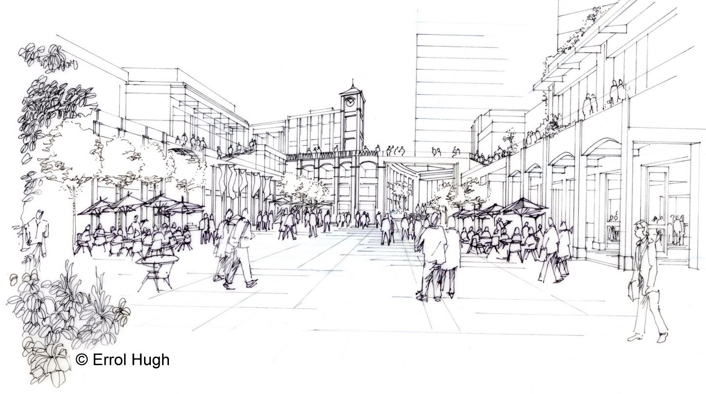 Architectural Drawing Sketch people in plaza sketch | sketches | pinterest | sketches