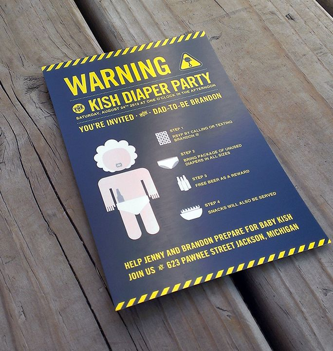 Diaper Party Invitation Graphic Design Resume Pinterest