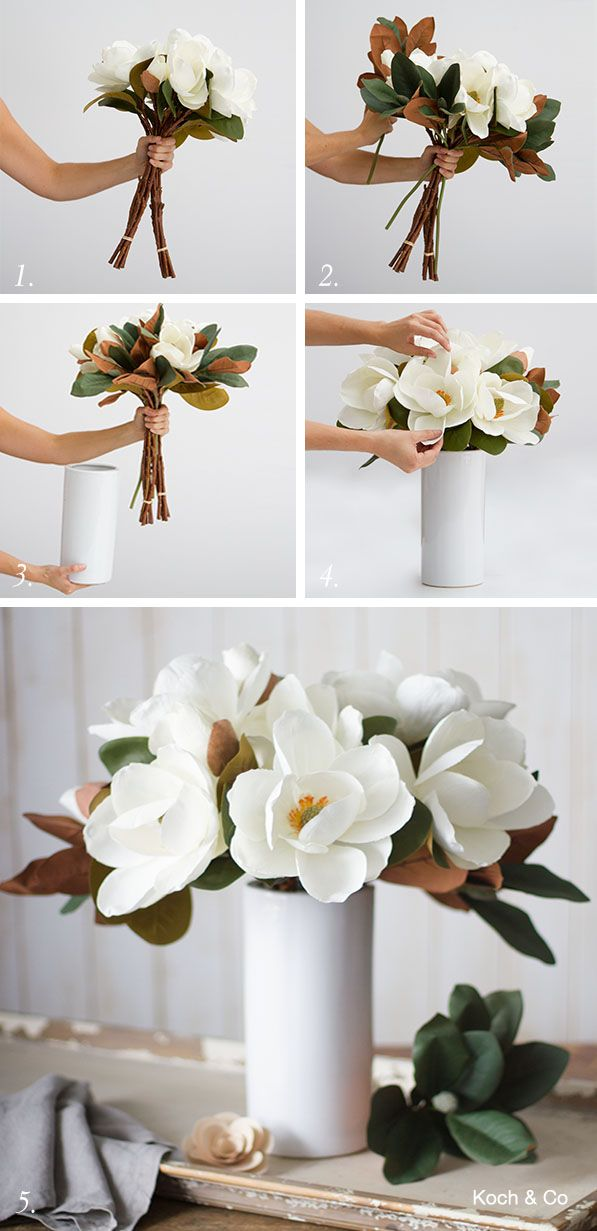 Our Step By Step Magnolia Arrangement As Featured In The Last Bhg