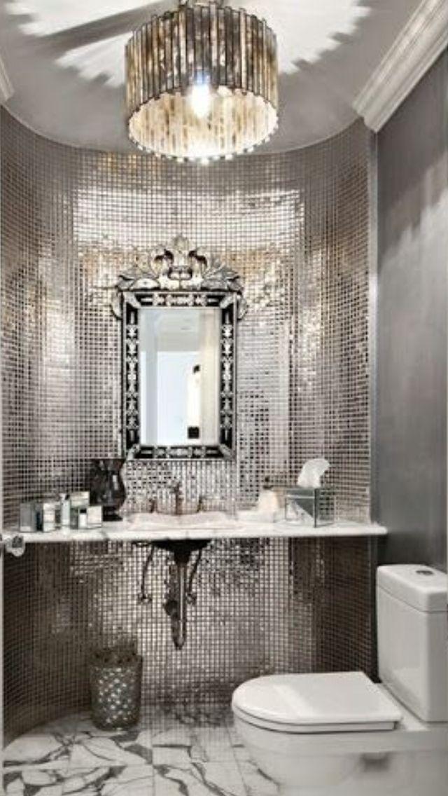 Bathroom Decor Ideas Silver luxury silver bathroom #luxurydotcom | my top pins1️⃣
