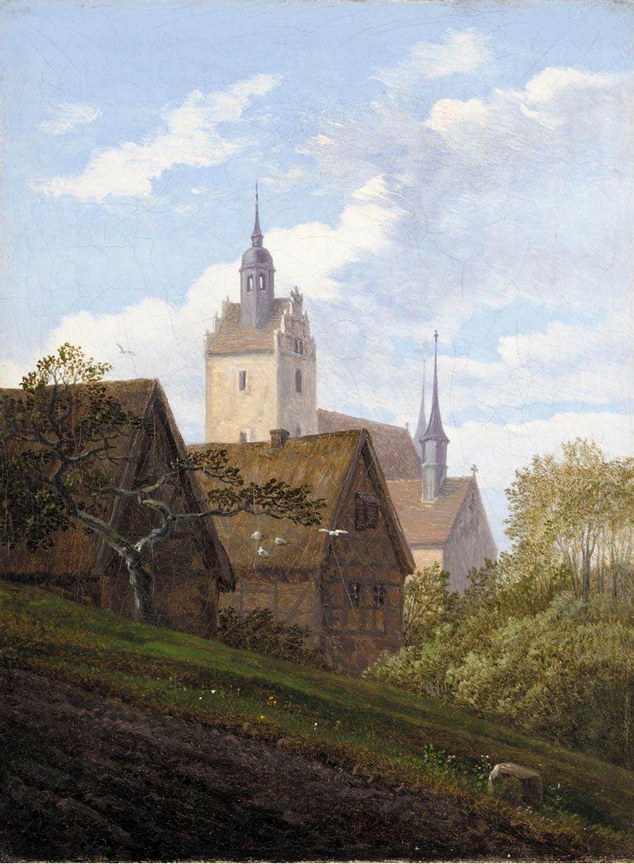Carl Gustav-Carus (German 1789–1869) [Romanticism] Ansicht von Priessnitz bei Dresden, date unknown.
