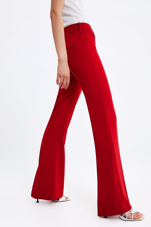 pantalon flare femme zara