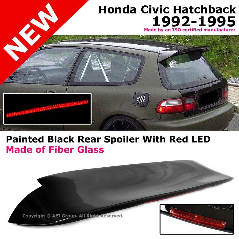 Honda Civic 92 95 Hatch Red Led Spoon Style Duckbill