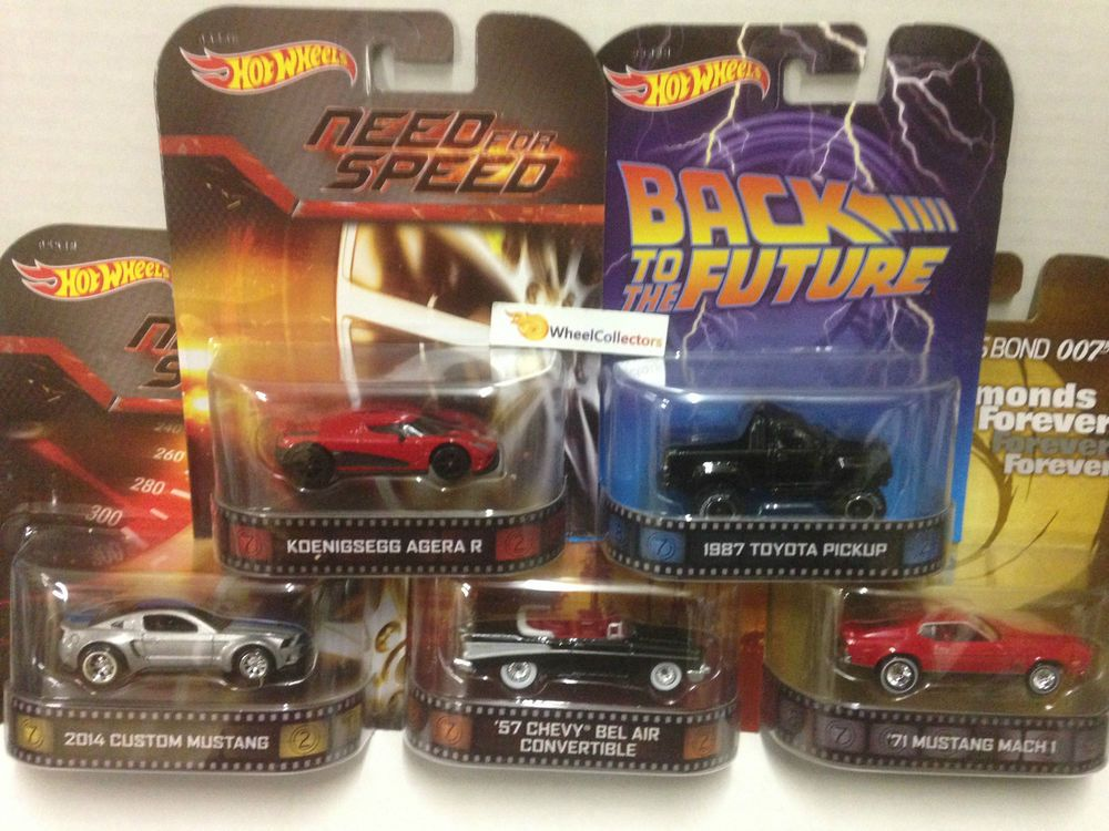 Need For Speed Complete 5 Car Set C Case 2014 Hot Wheels Retro Ent Hot Wheels Car Set 57 Chevy Bel Air