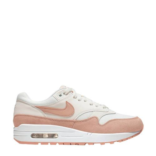 nike air max 1 roze wit