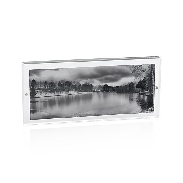 Acrylic 10x4 Panoramic Block Picture Frame | Crate and Barrel ...