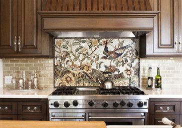 Kitchen Detail Of Custom Mosaic Tile Traditional Kitchen Los