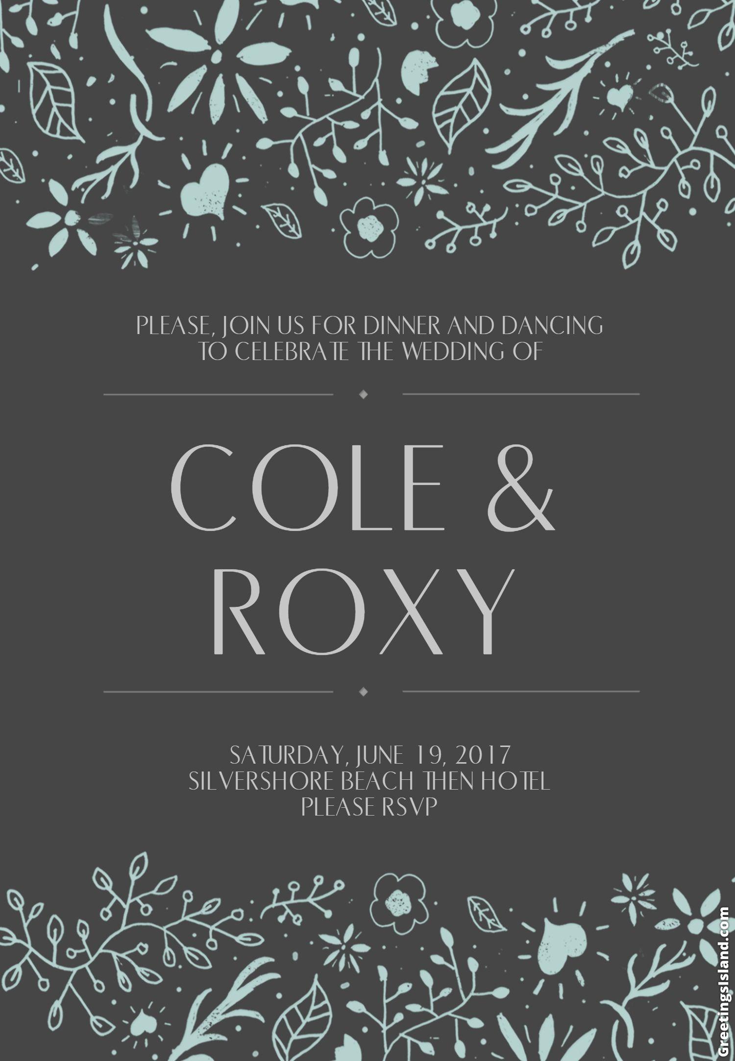 Wedding invitation from website Wedding invitations