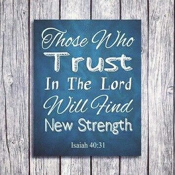 Those who trust in the Lord will find new strength. ISA 40:31 #verse