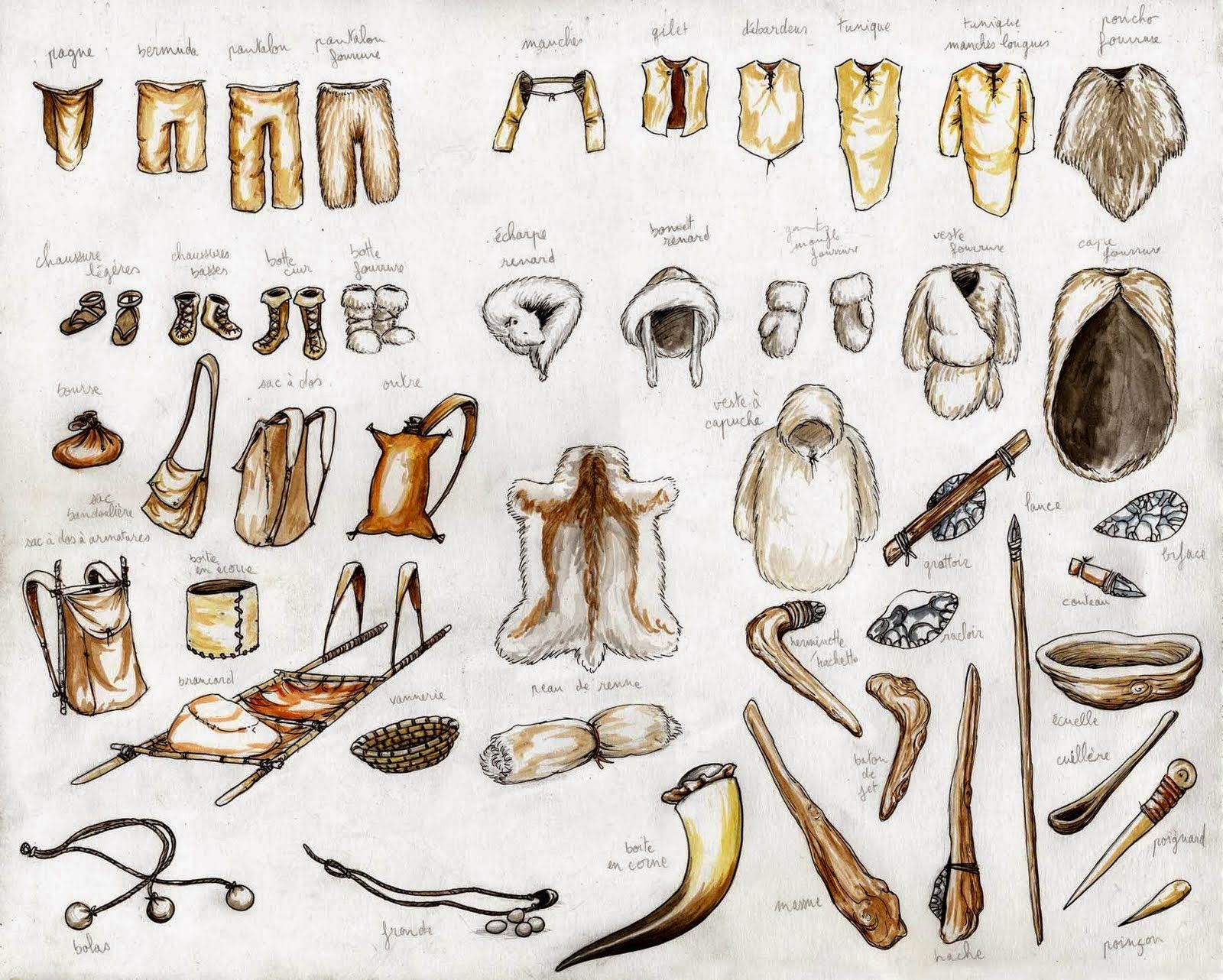 prehistoric+clothing+and+tools,+found+on+Emmanuel+Roudier ...