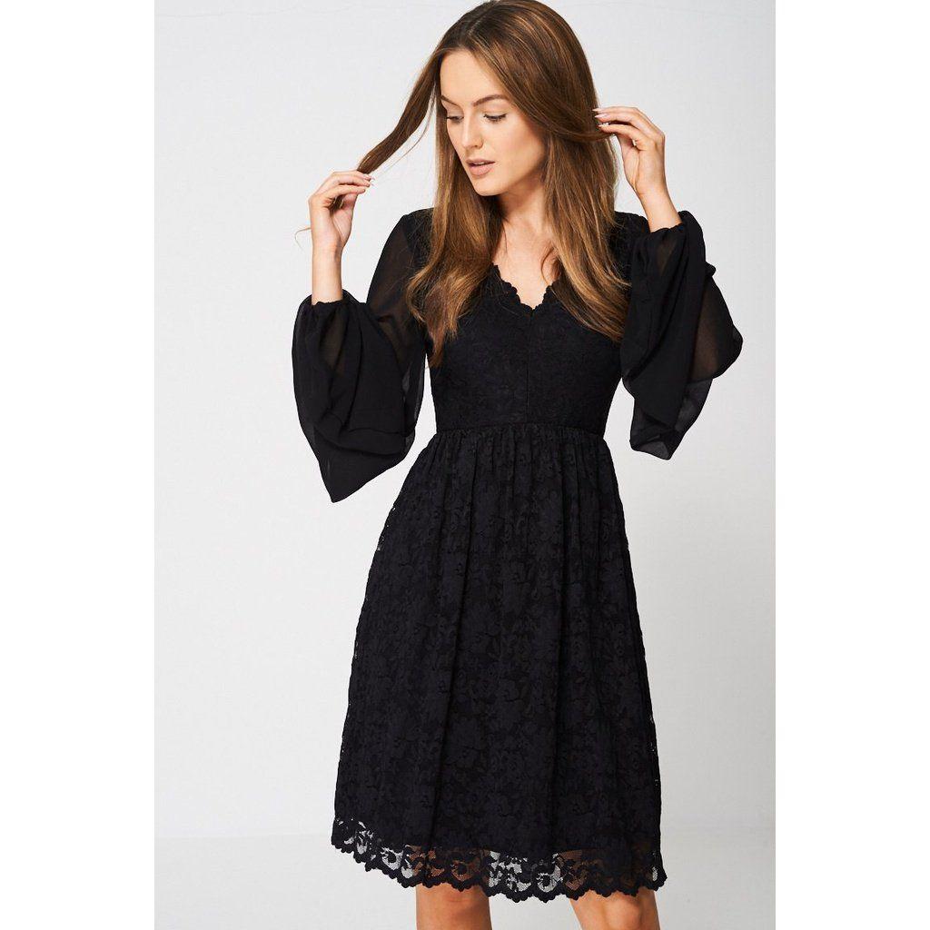 bb8f6ac1e387 Black Balloon Sleeve Lace Dress | Women - Dresses | Pinterest | Products