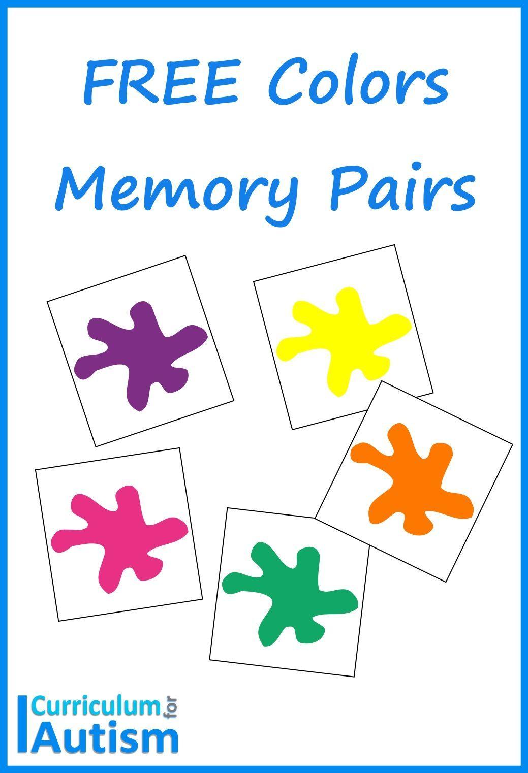 Free Colors Memory Pairs Game