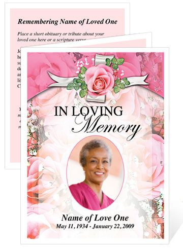 Any Occasion Template called Precious Memorial Card Creative - memorial card template