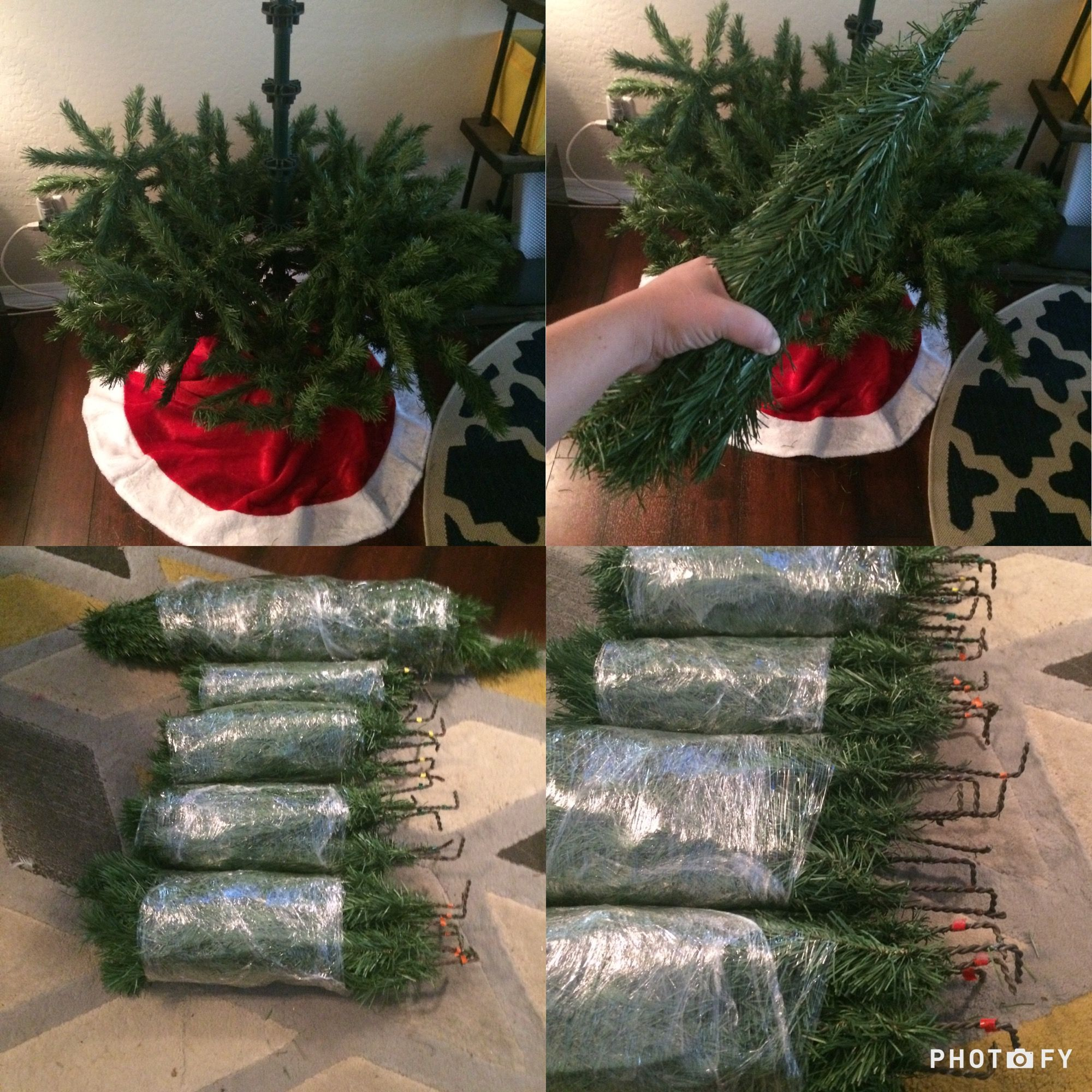 Christmas Tree Storage Made Simple 1 Compress All Branches From The Same Level 2 Wrap All 5 9 Christmas Tree Storage Fake Christmas Trees Christmas Spirit