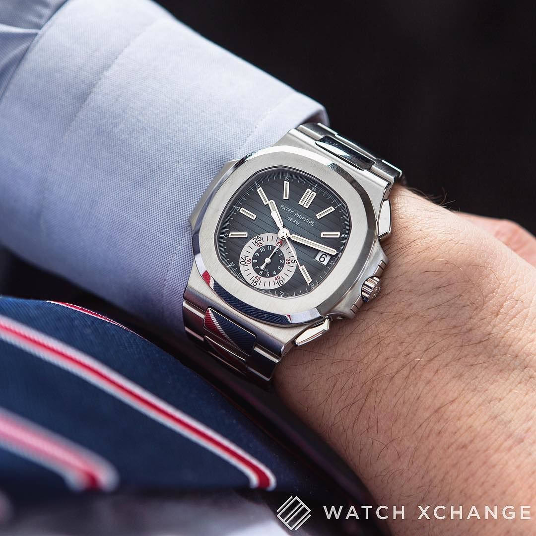 True Icon // A classic Patek Philippe #Nautilus 5980/1A-001 Steel Chronograph // Coming next week to http://ift.tt/1qIwSwQ