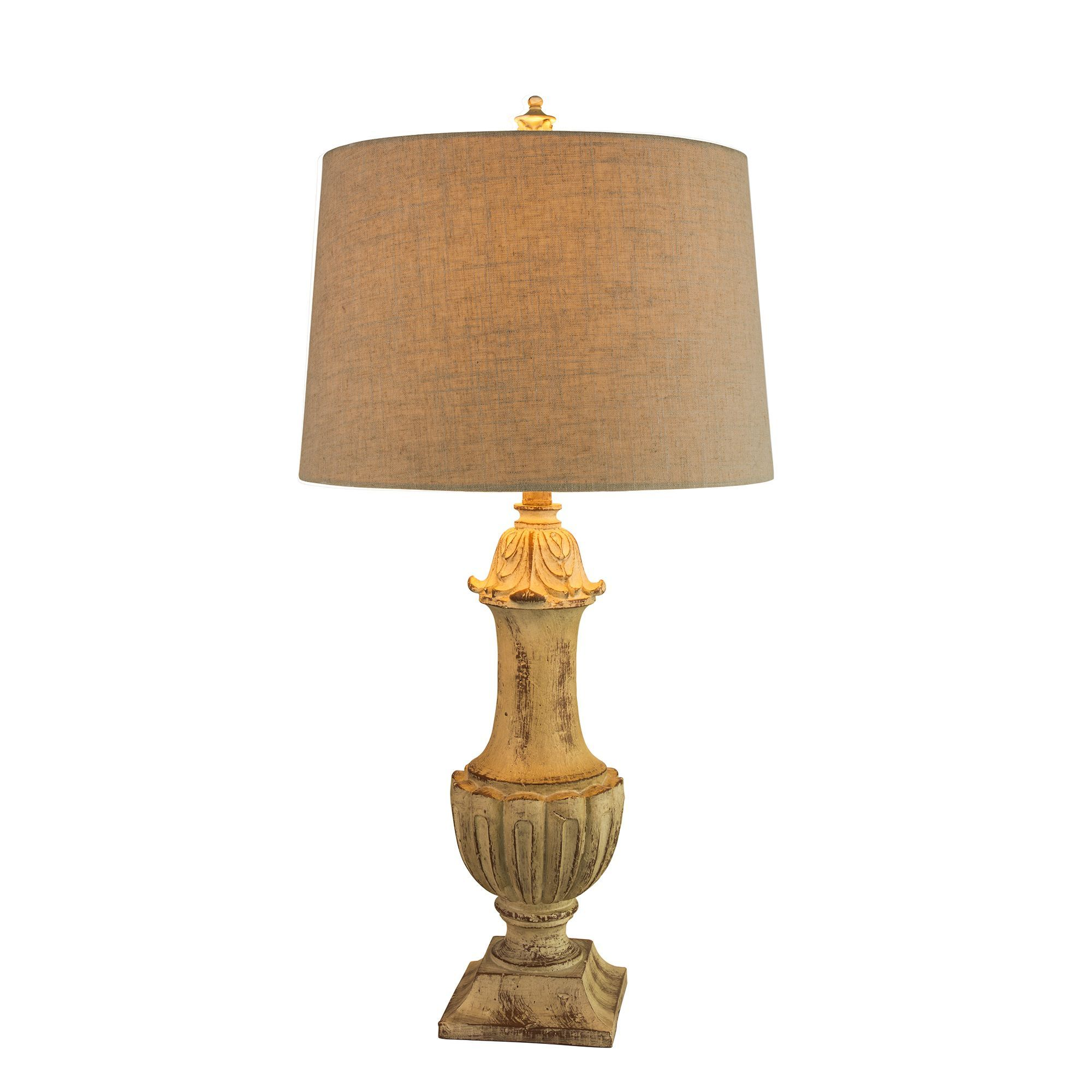 Fangio Lightings 6185nat 32 Inch Resin Table Lamp In Nature Finish Body