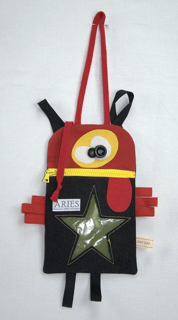 Monster trousse / Trousse pour enfants recyclée par ARIEScrea