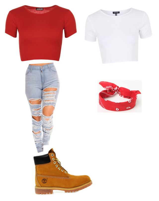 """Untitled #15"" by dethamaio on Polyvore featuring WearAll, Timberland, LA: Hearts and Topshop"