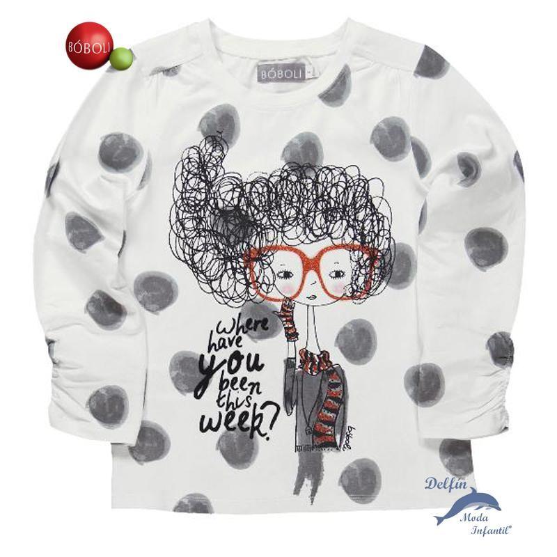 Camiseta niña juvenil BOBOLI manga larga punto elastico muñeca