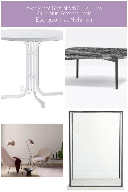 Mwh Rocco Gartentisch 230x95 Cm Aluminium Creatop Basic Eisengrau