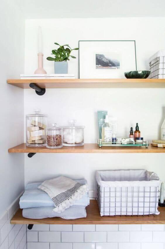 Photo of 30 Creative Bathroom Shelf Ideas 2019 (Don't Drop Your Jaw)
