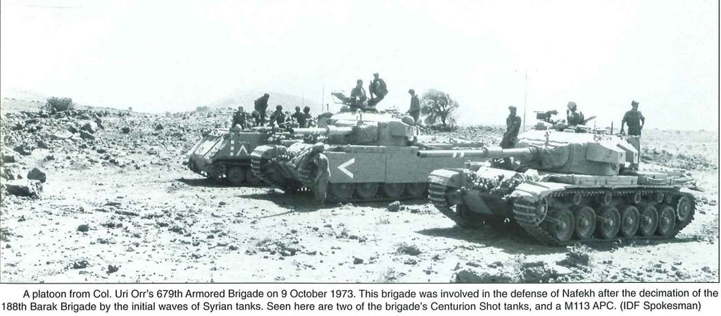 A Platoon From Col Orr S 679th Armored Brigade On 9 October 1973