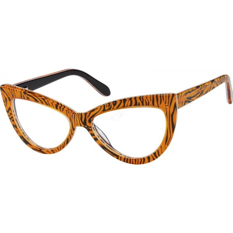 Orange Acetate Full-Rim Frame #484422 | Zenni Optical Eyeglasses ...