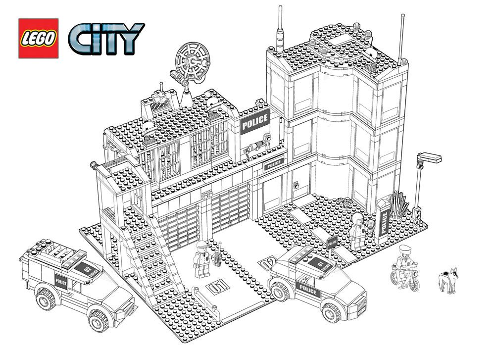 Vilag Lego City Police Station Lego Coloring Pages Lego Coloring Lego Police