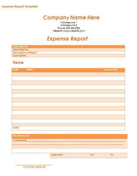 10+ Expense Report Templates | Free MS Word, Excel & PDF ...